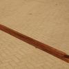 Hardhout fijnbezaagde paal 6,0 x 6,0