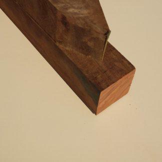 Hardhout fijnbezaagde paal 6,0 x 6,0 cm