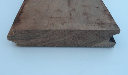 Hardhout damwand (mes en groef)